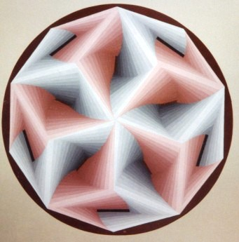 203 -Revolving squares (in pink and grey) Nr. IV [60x60]